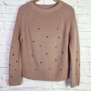 🌵Love Tree Pink Ribbed Pullover Embroidered Star